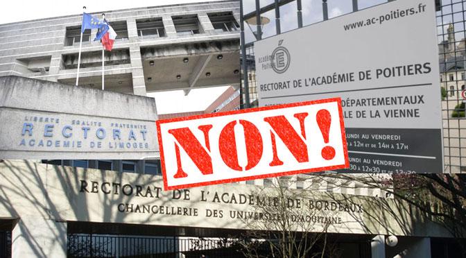 Fusion des académies : c'est non !
