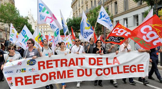 Après la grève des profs, il y aura une manifestation nationale en octobre