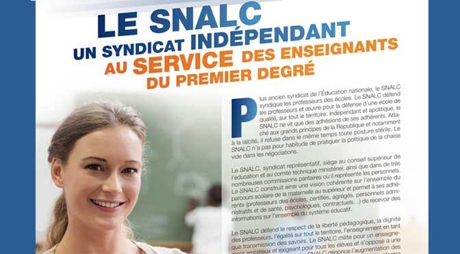 Le SNALC un syndicat indépendant au service des enseignants du premier degré