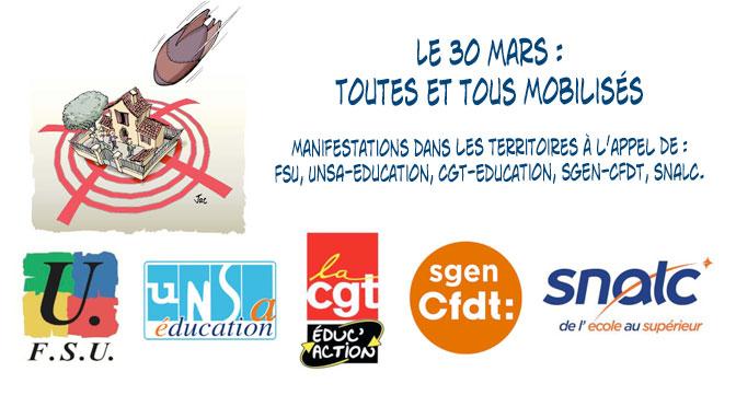 30 mars : journée nationale d'action